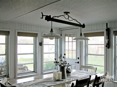 farmhouse dining table lighting diy farmhouse lighting kitchen remodel continues
