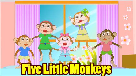 five little monkeys jumping on the bed song five little monkeys jumping on the bed with lyrics kids