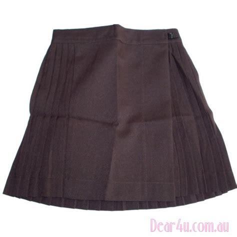 new school pleated skirt royal blue