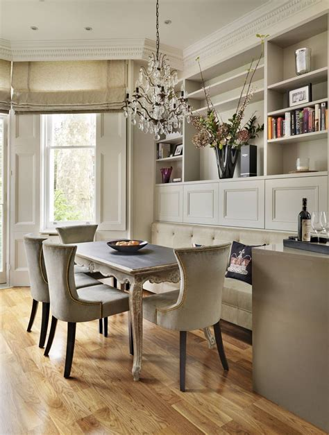 dinette banquette  large rectangle table  custom