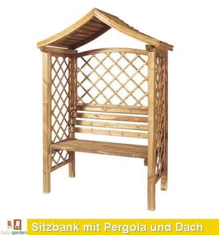 pergola mit bank sitzbank mit pergola und dach