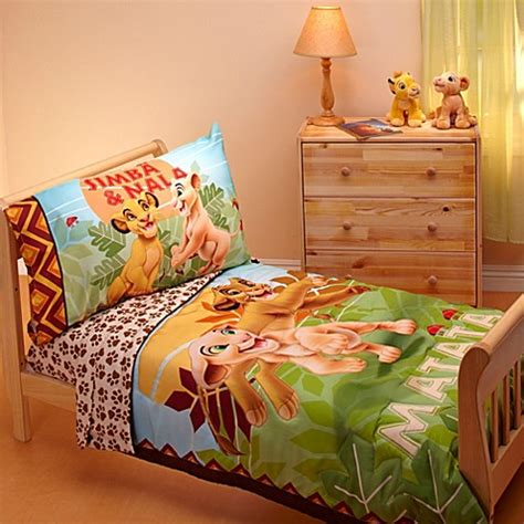 Disney Quot Lion King Quot Jungle Beat 4 Piece Toddler Bedding Set Disney King Bedding Set
