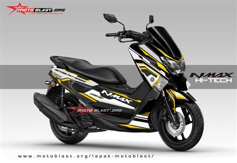 Cutting Nmax Elegan by Graphic Kit Yamaha Nmax Black White Hi Tech Motoblast