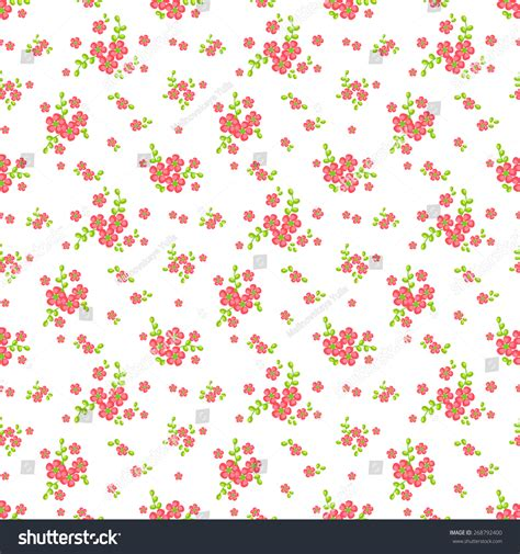 cute little pattern floral pattern white pink green colors stock vector