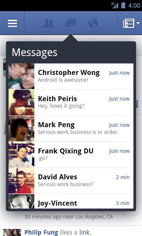 imagenes o videos para facebook facebook para android download