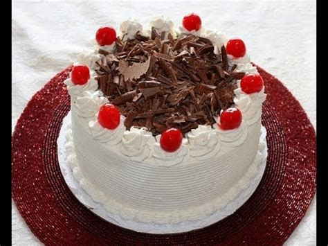 how to decorate a cake at home black forest cake recipe and decoration youtube