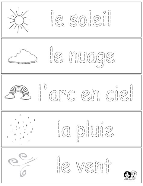 French For Kids Worksheets Coloring Posters Printable L