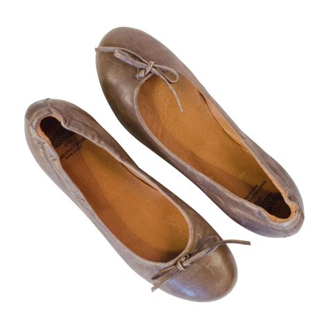 brown leather flat shoes moor brown nappa leather ballerina flat paolo shoes