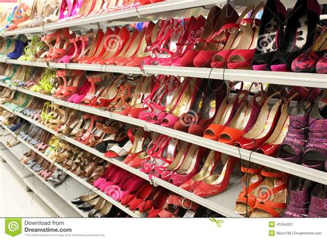 shoes on shelves editorial photography image of