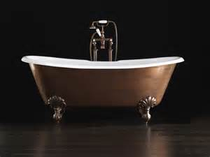 freestanding cast iron bathtub admiral copper effect by