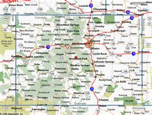 colorado map cities towns map of colorado maps