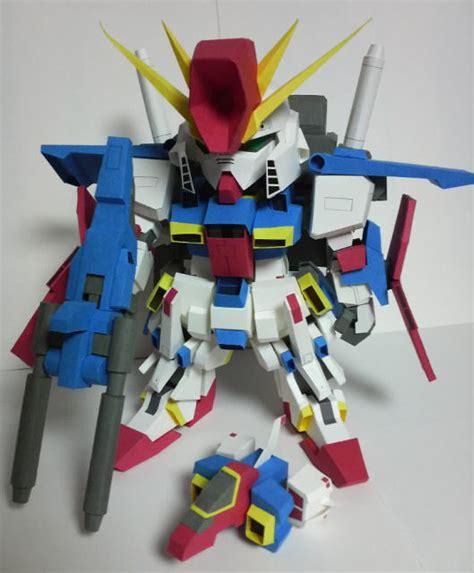 Sd Gundam Papercraft - sd gundam msz 006 zeta paper crafts magazine
