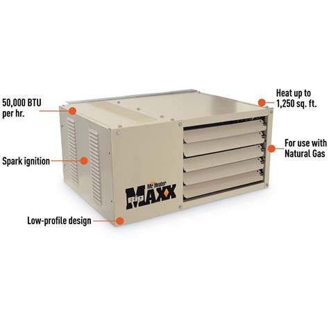 Garage Furnace Gas by Mr Heater Big Maxx Gas Unit Heater 50 000 Btu