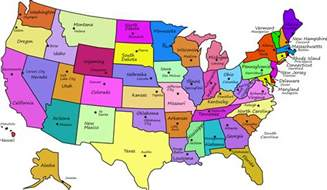 us map w states geography us maps with states