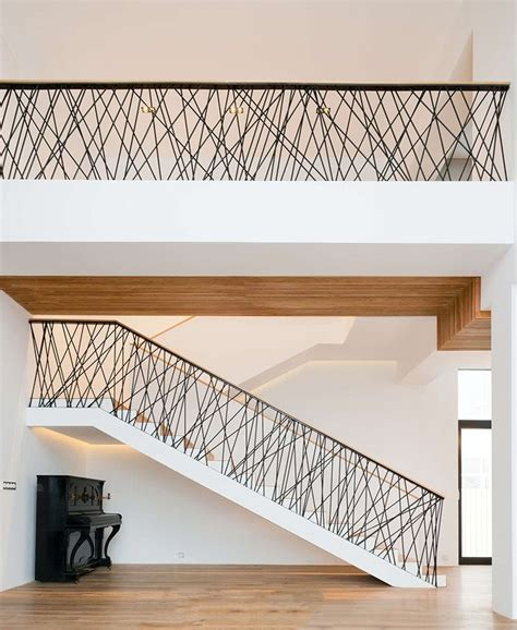 modern banister trends of stair railing ideas and materials interior