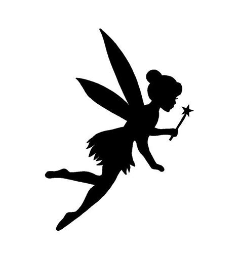 printable vinyl for silhouette fairy wand silhouette sticker decal tink princess usa