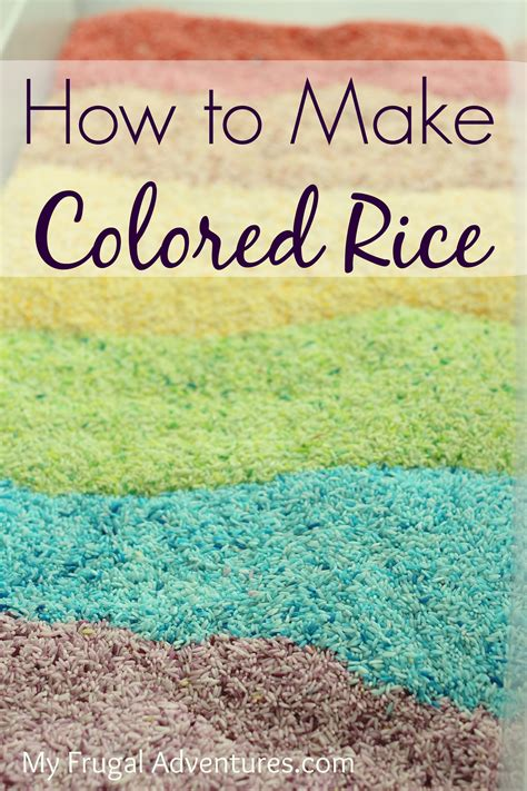 how to make colored rice easy colored rice for children for craft