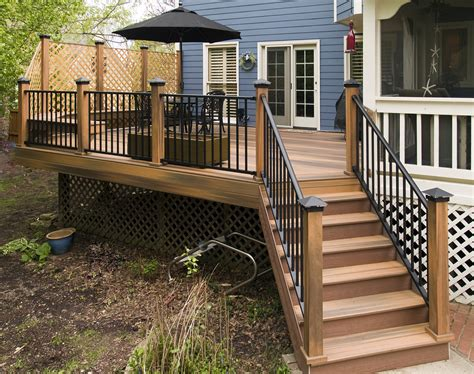 Under Stairs Ideas fiberon vinyl wrapped composite deck pictures built by all