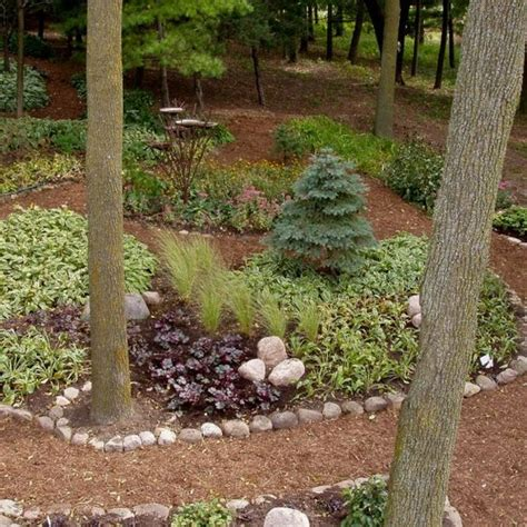 Serene Backyard No Grass No Mowing Great Landscape Backyard Ideas No Grass