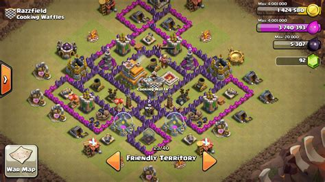coc layout anti dragon th7 coc th7 farming base anti dragon