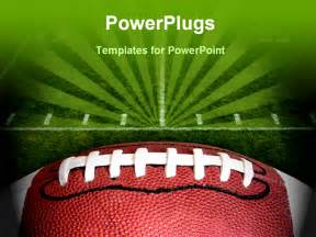 football powerpoint template free photo of an american football with the focus on the