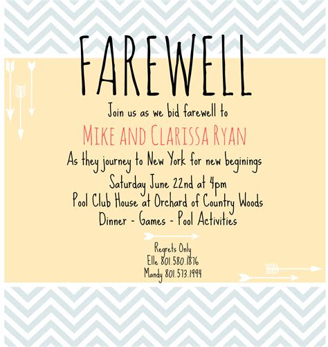 Farewell Invite Picmonkey Creations Pinterest Farewell Parties And Farewell Invitation Farewell Invitation Template