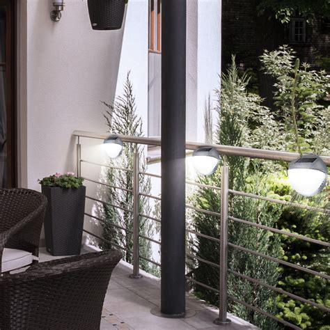 veranda zaun 4er set garten led au 223 enbereich leuchte wand solar le