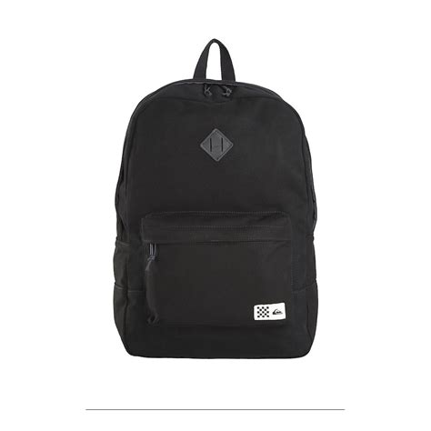 Canvas Backpack Black quiksilver tracker canvas backpack in black