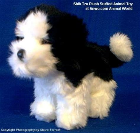 stuffed shih tzu shih tzu plush stuffed animal poofy at animal world 174