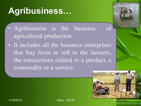 Agribusiness Management by Management Of Extension System For Agribusiness Development