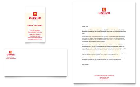 electrical business card template free electrical services business card letterhead template design