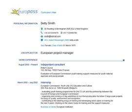 european cv template doc accueil europass