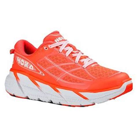 womens running shoes on clearance buy hoka clifton 2 for in neon coral and white