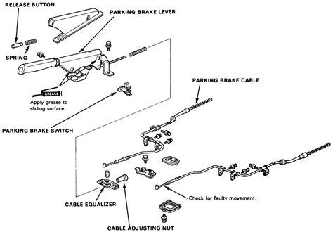 repair anti lock braking 1992 honda civic parking system repair guides parking brake cable autozone com