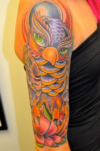 lady luck tattoo voted best of detroit owl sleeve