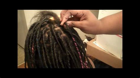 putting in dreads how to put in synthetic dreads with wraps