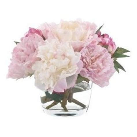 Pink Flowers In A Vase by Fab Flowers Light Pink And Peonies In Low Vase