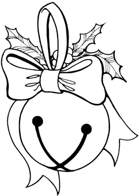 jingle bells ball coloring page all colored up pinterest