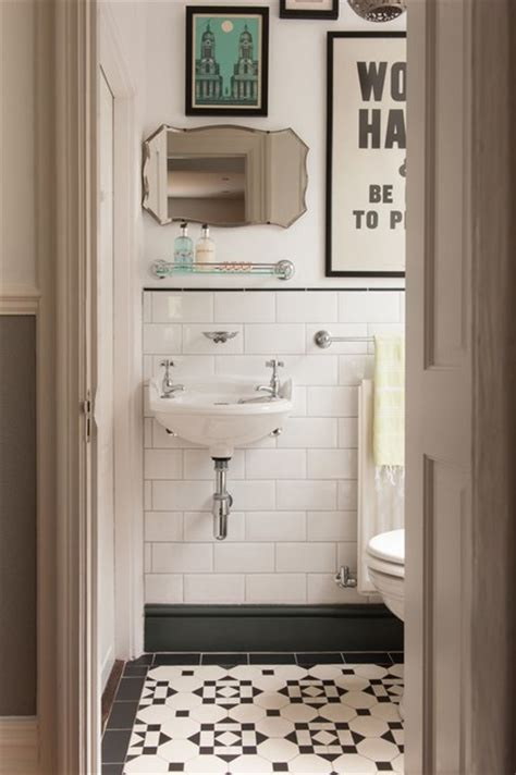 subway tile bathroom traditional with bathroom tile arts vintage bath with black white tile traditional