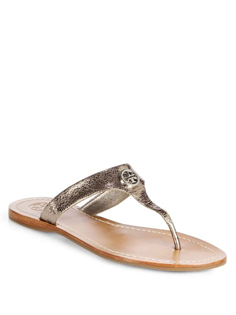 burch silver sandals burch cameron crackled metallic leather sandals