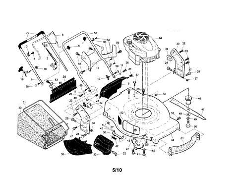 sears lawn mower parts diagram craftsman mower parts model 917374541 sears partsdirect