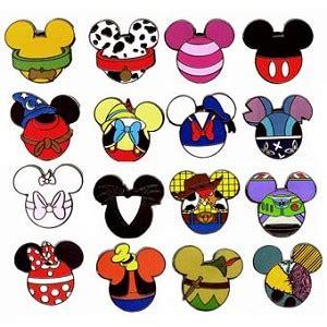 disney mystery pin set mickey mouse icon 4 random