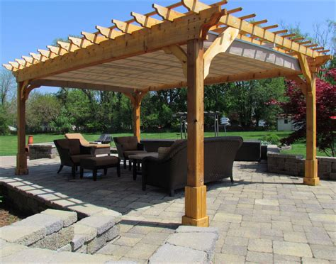 covered pergola plans 12x18 outside patio wood design customer s photo custom 12 x 18 cedar 2 beam pergola