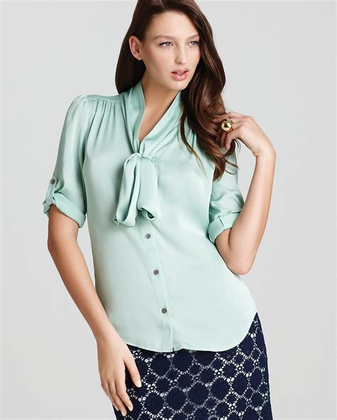 19455 Sweet Tie Blouse 1 tie neck blouses blouse with