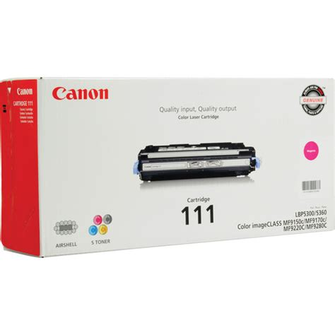 Canon Toner Ep329 Magenta Berkualitas canon 111 magenta toner cartridge 1658b001 b h photo