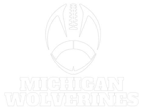 michigan football coloring page printable michigan wolverines coloring sheet