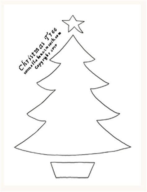free christmas tree stencils