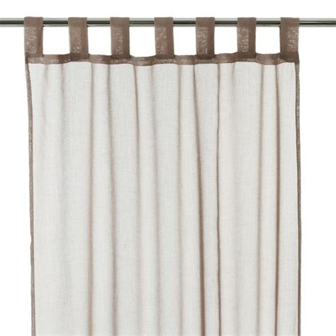 Rideau Voilage Taupe by Rideau Voilage 105x250cm Taupe