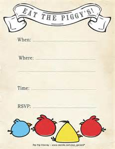 free printable angry birds invitation a