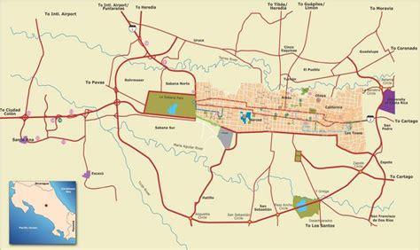 san jose downtown map costa rica san jose costa rica tourist map san jose costa rica